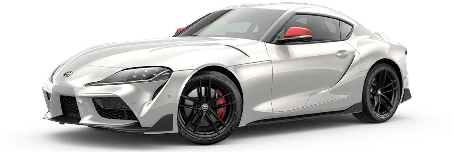 2020 2020-supra, Absolute Zero White - Launch, side front view